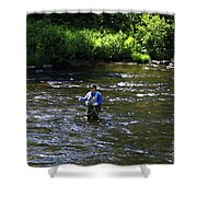 Fly Fishing In New York Shower Curtain