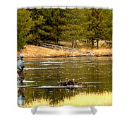 Fly Fishing On The Madison Shower Curtain