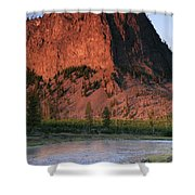 Fly Fishing On The Madison River Shower Curtain