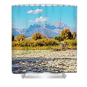 Fly Fishing Paradise Shower Curtain