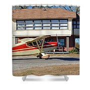Fly In To The Beaumont Hotel And Cafe Shower Curtain