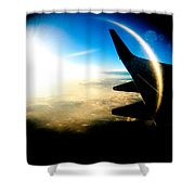 Fly Like A Dolphin Shower Curtain