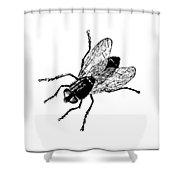 Fly Tee Shower Curtain