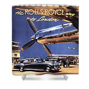 Fly The Rolls Royce Way To London Shower Curtain