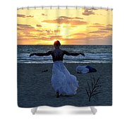 Fly To Sun Shower Curtain