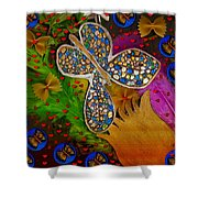 Fly With Me In Love Shower Curtain