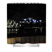 Flyer Night View Shower Curtain