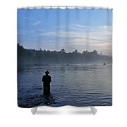 Flyfishing In Maine Shower Curtain