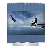 Flying 3rd Class Shower Curtain