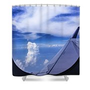 Flying Above The Clouds Shower Curtain