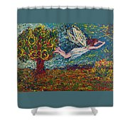 Flying Along With The Spirit Shower Curtain