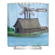 Flying Barn Shower Curtain
