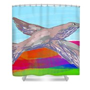 Flying Bird II Shower Curtain