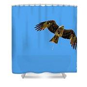 Flying Bird Shit Shower Curtain