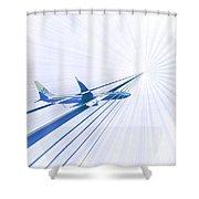 Flying Blind 2 Shower Curtain