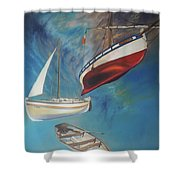 Flying Boats Shower Curtain