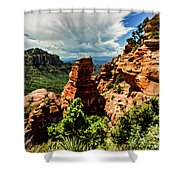 Flying Buttress 04-004 Shower Curtain