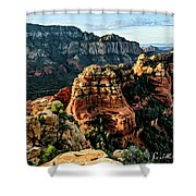 Flying Buttress 04-227 Shower Curtain