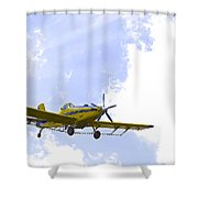Flying By Wire 1 Of 6 Shower Curtain