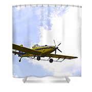 Flying By Wire 2 Of 6 Shower Curtain