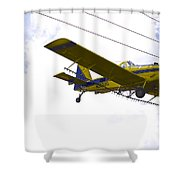 Flying By Wire 4 Of 6 Shower Curtain