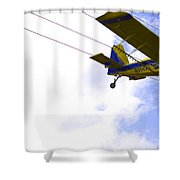 Flying By Wire 5 Of 6 Shower Curtain
