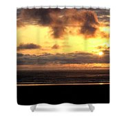 Flying Dog Sunset Shower Curtain
