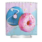 Doughnuts Treat Shower Curtain