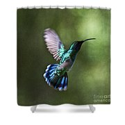 Flying Emerald Shower Curtain