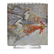 Flying Fairies. Monotype Shower Curtain