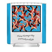 Flying Flamingos Shower Curtain