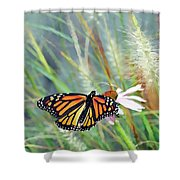 Flying Flower Shower Curtain