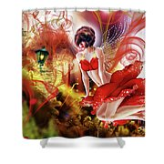 Flying Flower.. Eve Shower Curtain