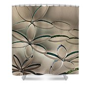 Flying Flowers Shower Curtain