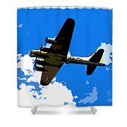 Flying Fortress Shower Curtain
