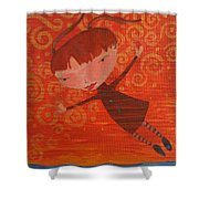 Flying Fredericka Shower Curtain