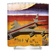 Flying From A Strange Place Shower Curtain