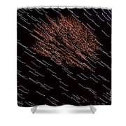 Flying Glowing Lights Shower Curtain