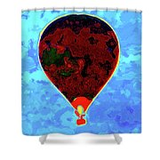 Flying High - Hot Air Balloon Shower Curtain