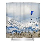 Flying High In Kandersteg, Switzerland Shower Curtain