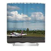 Flying In Alaska Shower Curtain