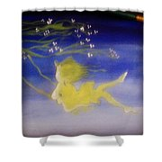 Flying In The Air Shower Curtain