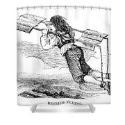 Flying Machine, 1678 Shower Curtain