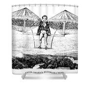 Flying Machine, 1807 Shower Curtain