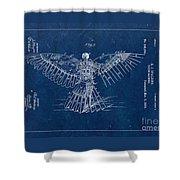 Flying Machine 1889 - Blue Shower Curtain