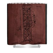 Flying Machine Patent Drawing  Shower Curtain