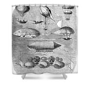 Flying Machines, 1856 Shower Curtain