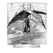 Flying Mans Parachute Shower Curtain