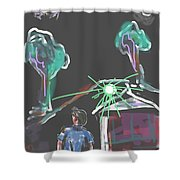 Flying Men Shower Curtain