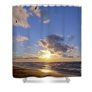 Flying Onshore Two Shower Curtain